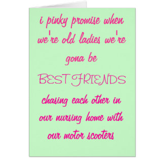 i pinky promise... Greetings Card