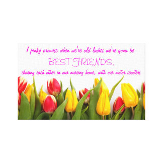 I Pinky Promise.. Tulip Canvas Design Canvas Print