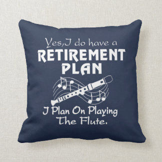 I Plan On Playing The Flute Cushion