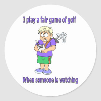 I play a fair game of golf stickers