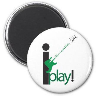i play bass 6 cm round magnet