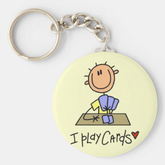 I Play Cards Tshirts and Gifts Key Chains