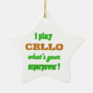I Play cello Christmas Ornament