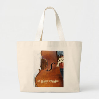 I play Cello Large Tote Bag