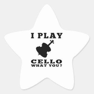 I Play Cello Stickers