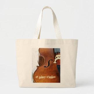 I play Cello Canvas Bag