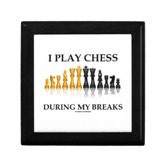 I Play Chess During My Breaks (Reflective Chess) Small Square Gift Box