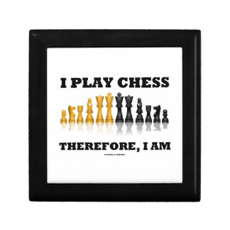 I Play Chess Therefore, I Am (Chess Set) Small Square Gift Box