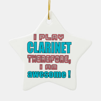 I play clarinet therefore, I'm awesome! Christmas Ornament