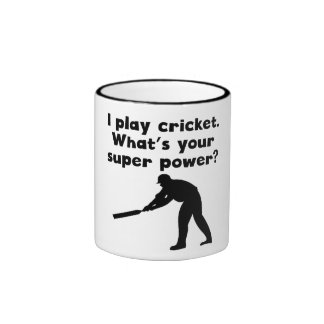 I Play Cricket Super Power Mugs
