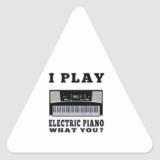 I Play Electric Piano Triangle Stickers