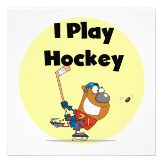 I Play Hockey Tshirts and Gifts Personalized Announcements