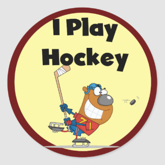 I Play Hockey Tshirts and Gifts Round Sticker