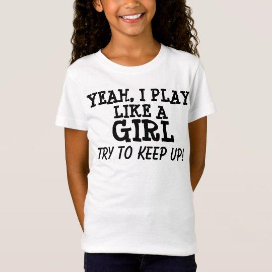 I play like a girl, T-shirts, kids T-Shirt