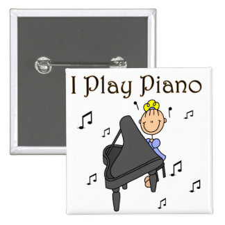 I Play Piano Button
