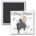 I Play Piano Magnet