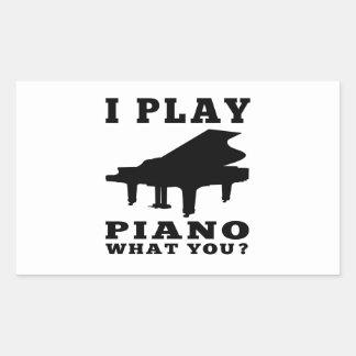 I Play Piano Stickers