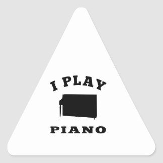 I Play Piano Sticker