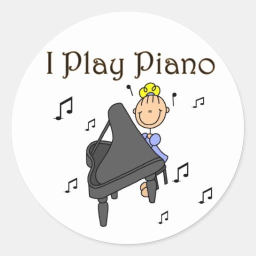 I Play Piano Stickers Sticker