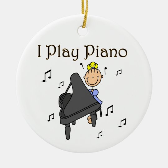 I Play Piano T-shirts and Gifts Christmas Ornament