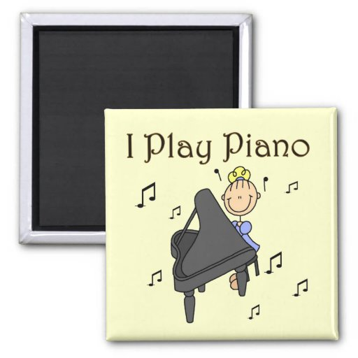 I Play Piano T-shirts and Gifts Fridge Magnets