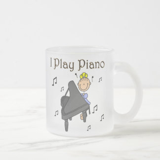 I Play Piano T-shirts and Gifts Frosted Glass Mug