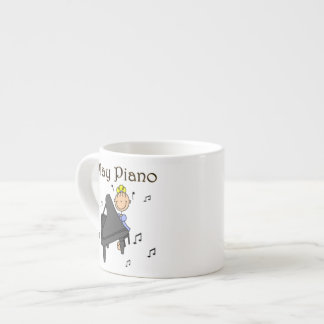 I Play Piano T-shirts and Gifts 6 Oz Ceramic Espresso Cup