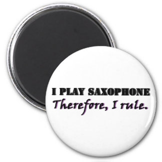I Play Saxophone... 6 Cm Round Magnet
