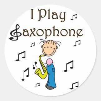 I Play Saxophone Stickers Sticker