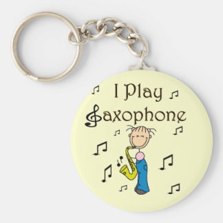 I Play Saxophone T-shirts and Gifts Keychain