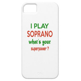 I play Soprano what's your superpower ? iPhone 5 Cases
