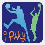 i Play Square Sticker