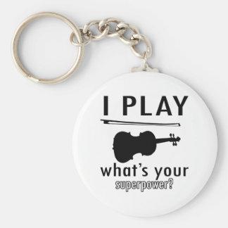 I play the Violin Key Ring