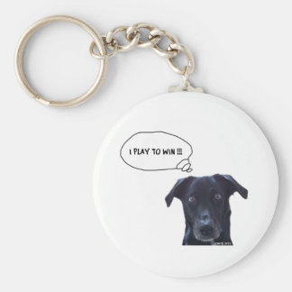 I Play to Win !! Basic Round Button Key Ring