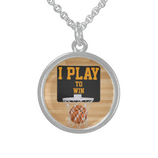 I PLAY TO WIN ROUND PENDANT NECKLACE