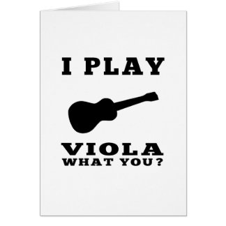 I Play Viola Card