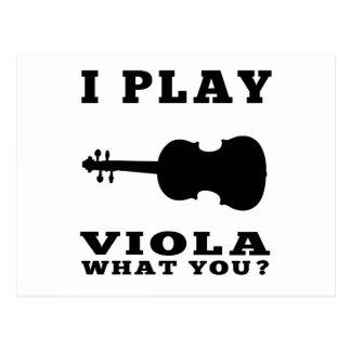 I Play Viola Postcard
