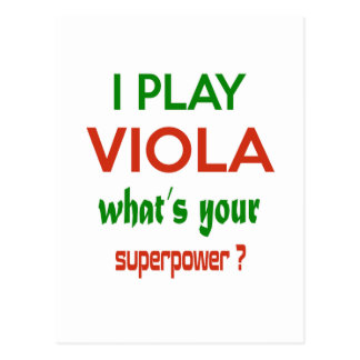 I play Viola what's your superpower ? Postcard