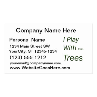 I play with little trees business card template