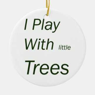 I play with little trees round ceramic decoration