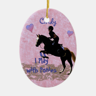 I Play with Ponies Christmas Ornament