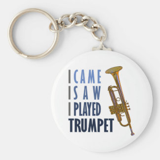 I Played Trumpet Basic Round Button Key Ring
