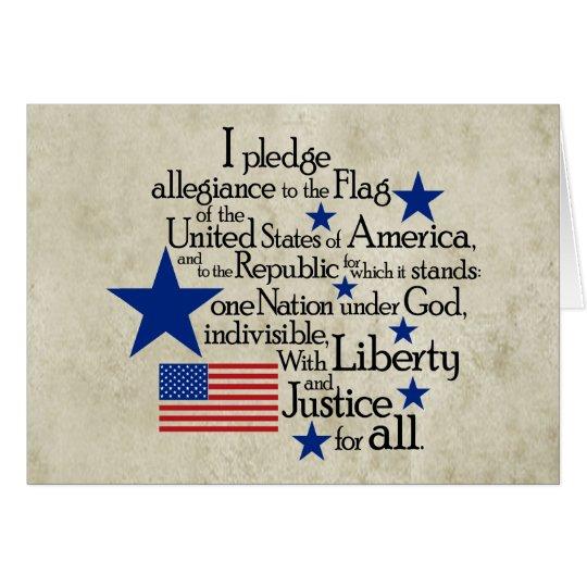 I pledge Allegiance to the flag Card