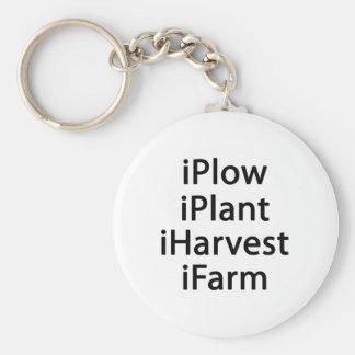 I plow plant harvest farm keychain