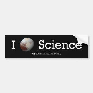 I (Pluto's heart) Science sticker