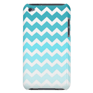i Pod Blue Ombre Chevrons Pattern iPod Touch Case
