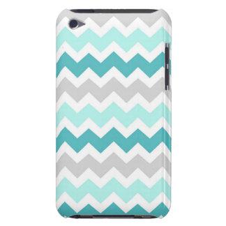 i Pod Grey Teal Geometric Pattern iPod Touch Case