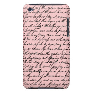 I Pod touch with victorian poem Barely There iPod Case
