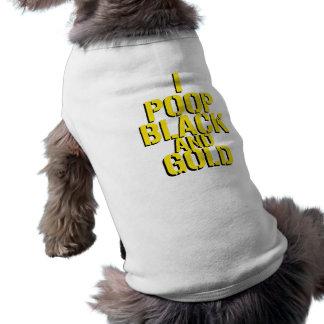 I Poop Black and Gold Sleeveless Dog Shirt