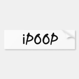 i poop bumper sticker